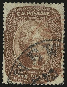 Sale Number 984, Lot Number 146, 3c-5c 1857-60 Issue (Scott 25-30A)5c Brick Red (27), 5c Brick Red (27)