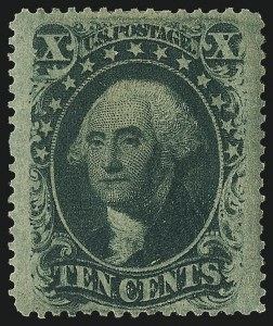 Sale Number 984, Lot Number 178, 10c 1857-60 Issue (Scott 31-35)10c Green, Ty. V (35), 10c Green, Ty. V (35)