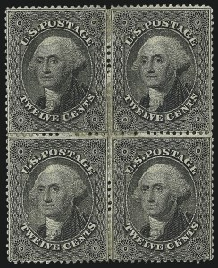 Sale Number 984, Lot Number 181, 12c 1857-60 Issue (Scott 36-36B)12c Black, Plate 1 (36), 12c Black, Plate 1 (36)
