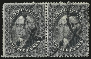 Sale Number 984, Lot Number 184, 12c 1857-60 Issue (Scott 36-36B)12c Black, Plate 1 (36), 12c Black, Plate 1 (36)