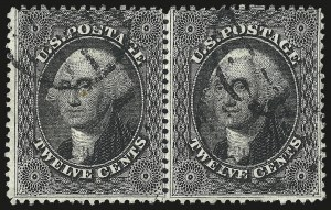 Sale Number 984, Lot Number 185, 12c 1857-60 Issue (Scott 36-36B)12c Black, Plate 1 (36), 12c Black, Plate 1 (36)
