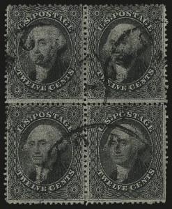 Sale Number 984, Lot Number 188, 12c 1857-60 Issue (Scott 36-36B)12c Black, Plate 1 (36), 12c Black, Plate 1 (36)