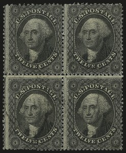 Sale Number 984, Lot Number 189, 12c 1857-60 Issue (Scott 36-36B)12c Black, Plate 1 (36), 12c Black, Plate 1 (36)