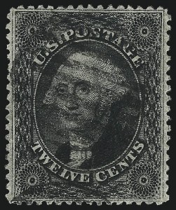 Sale Number 984, Lot Number 194, 12c 1857-60 Issue (Scott 36-36B)12c Black, Plate 3 (36B), 12c Black, Plate 3 (36B)