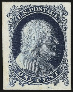 Sale Number 984, Lot Number 232, 1875 Reprint of 1857-60 Issue (Scott 40-47)1c Blue, Plate Proofs on Stamp Paper, India and Card (40Pa, 40P3-40P4), 1c Blue, Plate Proofs on Stamp Paper, India and Card (40Pa, 40P3-40P4)