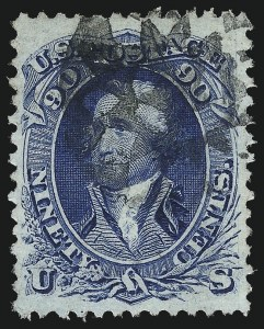 Sale Number 984, Lot Number 304, 1861-66 Issue (Scott 69-78)90c Blue (72), 90c Blue (72)