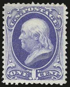 Sale Number 984, Lot Number 474, 1870-71 National Bank Note Co. Ungrilled Issue (Scott 145-155)1c Ultramarine (145), 1c Ultramarine (145)
