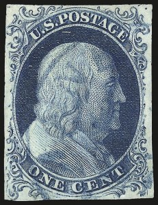Sale Number 984, Lot Number 48, 1c 1851-56 Issue (Scott 5-9)1c Blue, Ty. Ib (5A), 1c Blue, Ty. Ib (5A)