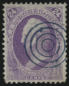 Sale Number 984, Lot Number 480, 1870-71 National Bank Note Co. Ungrilled Issue (Scott 145-155)24c Purple (153), 24c Purple (153)