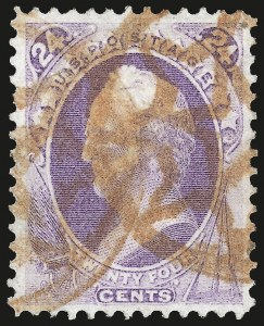 Sale Number 984, Lot Number 481, 1870-71 National Bank Note Co. Ungrilled Issue (Scott 145-155)24c Purple (153), 24c Purple (153)