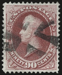 Sale Number 984, Lot Number 482, 1870-71 National Bank Note Co. Ungrilled Issue (Scott 145-155)90c Carmine (155), 90c Carmine (155)