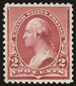 "Sale Number 984, Lot Number 520, 1890-93 Issue (Scott 219-229)2c Carmine, Cap on Left ""2"" (220a), 2c Carmine, Cap on Left ""2"" (220a)"