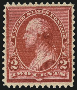 "Sale Number 984, Lot Number 521, 1890-93 Issue (Scott 219-229)2c Carmine, Cap on Both ""2""'s (220c), 2c Carmine, Cap on Both ""2""'s (220c)"