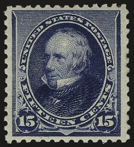 Sale Number 984, Lot Number 525, 1890-93 Issue (Scott 219-229)15c Indigo (227), 15c Indigo (227)