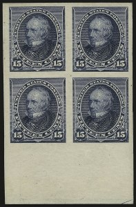 Sale Number 984, Lot Number 526, 1890-93 Issue (Scott 219-229)15c Indigo, Imperforate (227a), 15c Indigo, Imperforate (227a)