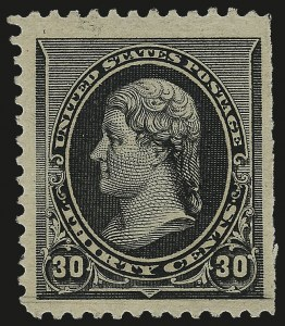 Sale Number 984, Lot Number 530, 1890-93 Issue (Scott 219-229)30c Black (228), 30c Black (228)