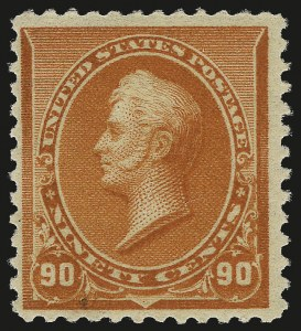 Sale Number 984, Lot Number 533, 1890-93 Issue (Scott 219-229)90c Orange (229), 90c Orange (229)