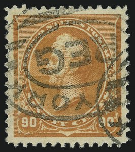 Sale Number 984, Lot Number 534, 1890-93 Issue (Scott 219-229)90c Orange (229), 90c Orange (229)