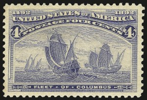 Sale Number 984, Lot Number 544, 1893 Columbian Issue (1c thru 8c, Scott 230-236)4c Columbian (233), 4c Columbian (233)