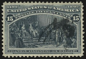 Sale Number 984, Lot Number 553, 1893 Columbian Issue (10c thru $1.00, Scott 237-241)15c Columbian (238), 15c Columbian (238)