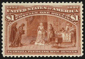 Sale Number 984, Lot Number 567, 1893 Columbian Issue (10c thru $1.00, Scott 237-241)$1.00 Columbian (241), $1.00 Columbian (241)