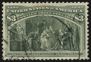 Sale Number 984, Lot Number 602, 1893 Columbian Issue ($2.00 thru $5.00, Scott 242-245)$3.00 Columbian (243), $3.00 Columbian (243)