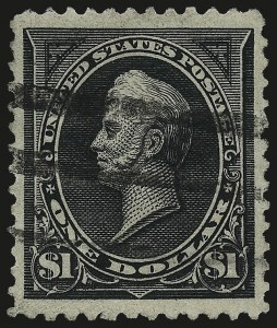 Sale Number 984, Lot Number 646, 1894 Unwatermarked Bureau Issue (Scott 246-263)$1.00 Black, Ty. II (261A), $1.00 Black, Ty. II (261A)