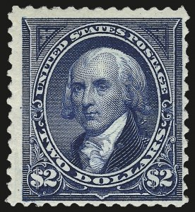 Sale Number 984, Lot Number 649, 1894 Unwatermarked Bureau Issue (Scott 246-263)$2.00 Bright Blue (262), $2.00 Bright Blue (262)