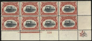Sale Number 984, Lot Number 733, 1901 Pan-American Issue (Scott 294-299)2c Pan-American (295), 2c Pan-American (295)