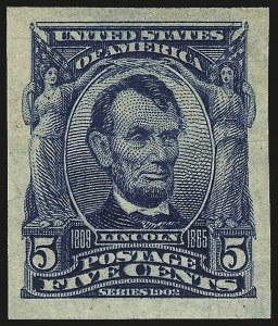 Sale Number 984, Lot Number 776, 1902-08 Issues (Scott 314A-322)5c Blue, Imperforate (315), 5c Blue, Imperforate (315)