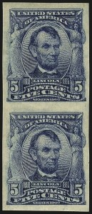 Sale Number 984, Lot Number 777, 1902-08 Issues (Scott 314A-322)5c Blue, Imperforate (315), 5c Blue, Imperforate (315)