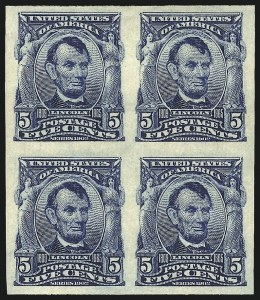 Sale Number 984, Lot Number 778, 1902-08 Issues (Scott 314A-322)5c Blue, Imperforate (315), 5c Blue, Imperforate (315)