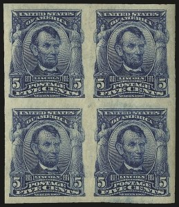 Sale Number 984, Lot Number 779, 1902-08 Issues (Scott 314A-322)5c Blue, Imperforate (315), 5c Blue, Imperforate (315)
