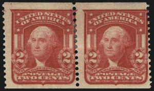 Sale Number 984, Lot Number 782, 1902-08 Issues (Scott 314A-322)2c Scarlet, Imperforate, International Vending Machine Co. Private Perforation 12-1/2 to 13 (320b var), 2c Scarlet, Imperforate, International Vending Machine Co. Private Perforation 12-1/2 to 13 (320b var)