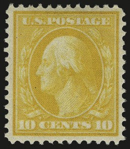 Sale Number 984, Lot Number 817, 1909 Bluish Paper Issue (Scott 357-366)10c Yellow, Bluish (364), 10c Yellow, Bluish (364)