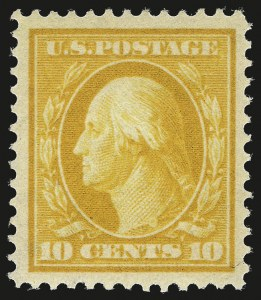 Sale Number 984, Lot Number 838, 1910-13 Washington-Franklin Issue (Scott 374-396)10c Yellow (381), 10c Yellow (381)