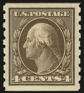 Sale Number 984, Lot Number 845, 1910-13 Washington-Franklin Issue (Scott 374-396)4c Brown, Coil (395), 4c Brown, Coil (395)