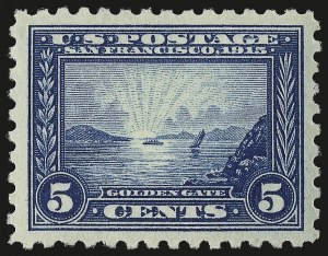 Sale Number 984, Lot Number 855, 1913-15 Panama-Pacific Issue (Scott 397-404)5c Panama-Pacific, Perf 10 (403), 5c Panama-Pacific, Perf 10 (403)