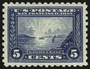 Sale Number 984, Lot Number 856, 1913-15 Panama-Pacific Issue (Scott 397-404)5c Panama-Pacific, Perf 10 (403), 5c Panama-Pacific, Perf 10 (403)