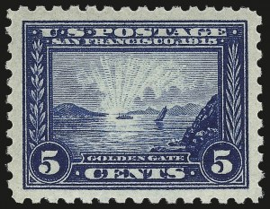 Sale Number 984, Lot Number 857, 1913-15 Panama-Pacific Issue (Scott 397-404)5c Panama-Pacific, Perf 10 (403), 5c Panama-Pacific, Perf 10 (403)