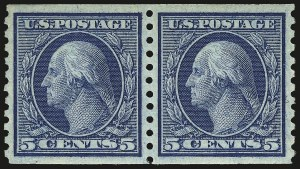 Sale Number 984, Lot Number 898, 1913-15 Washington-Franklin Issues (Scott 424-460)5c Blue, Coil (458), 5c Blue, Coil (458)