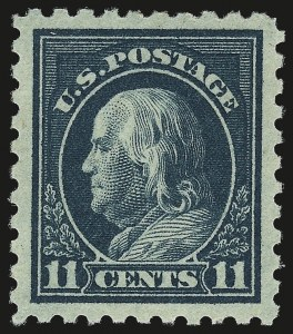 Sale Number 984, Lot Number 906, 1916-17 Issues (Scott 461-480)11c Dark Green (473), 11c Dark Green (473)
