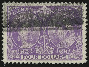 Sale Number 987, Lot Number 2191, B.N.A. -- Canada JubileesCANADA, 1897, $4.00 Jubilee (64; SG 139), CANADA, 1897, $4.00 Jubilee (64; SG 139)