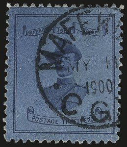 Sale Number 987, Lot Number 2294, Cape of Good HopeCAPE OF GOOD HOPE, MAFEKING, 1900, 3p Blue on Blue, Baden-Powell (180; SG 21), CAPE OF GOOD HOPE, MAFEKING, 1900, 3p Blue on Blue, Baden-Powell (180; SG 21)