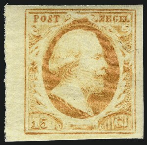 Sale Number 987, Lot Number 2590, Netherlands thru SaarNETHERLANDS, 1852, 15c Orange (3), NETHERLANDS, 1852, 15c Orange (3)