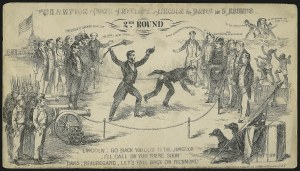 Sale Number 987, Lot Number 2851, 1861-66 IssueLincoln-Davis Prize Fight in Five Rounds, Lincoln-Davis Prize Fight in Five Rounds