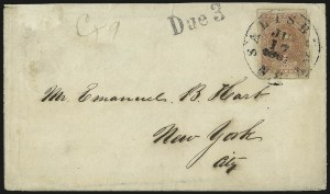 Sale Number 988, Lot Number 106, Flag-of-Truce Mail: Petersburg-Old Point ComfortSalisbury N.C, Salisbury N.C