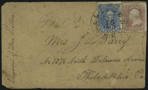 Sale Number 988, Lot Number 107, Flag-of-Truce Mail: Petersburg-Old Point ComfortSalisbury Prison, N.C, Salisbury Prison, N.C