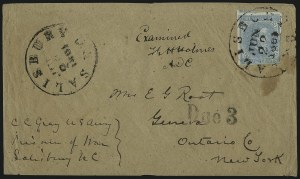 Sale Number 988, Lot Number 108, Flag-of-Truce Mail: Petersburg-Old Point ComfortSalisbury Prison, N.C, Salisbury Prison, N.C