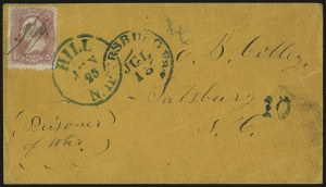 Sale Number 988, Lot Number 111, Flag-of-Truce Mail: Petersburg-Old Point ComfortSalisbury Prison, N.C, Salisbury Prison, N.C